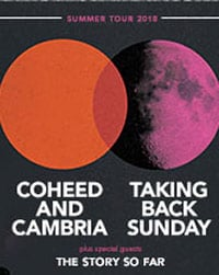 Coheed and Cambria + Taking Back Sunday